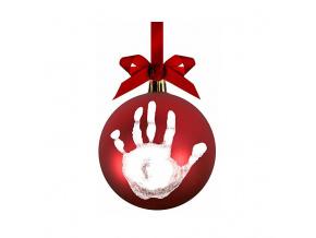 Vánoční ozdoba s otisky miminka